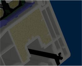 теплоизолятор внутри профиля IKD